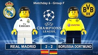real madrid vs borussia dortmund 2 2 champions league 2017 07 12 2016 film lego football bvb