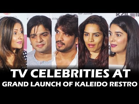 Tv सितारे पोहचे Grand Launch Of Kaleido Restro पर | Karan Patel, Aditi Bhatia, Urvashi Dholakia