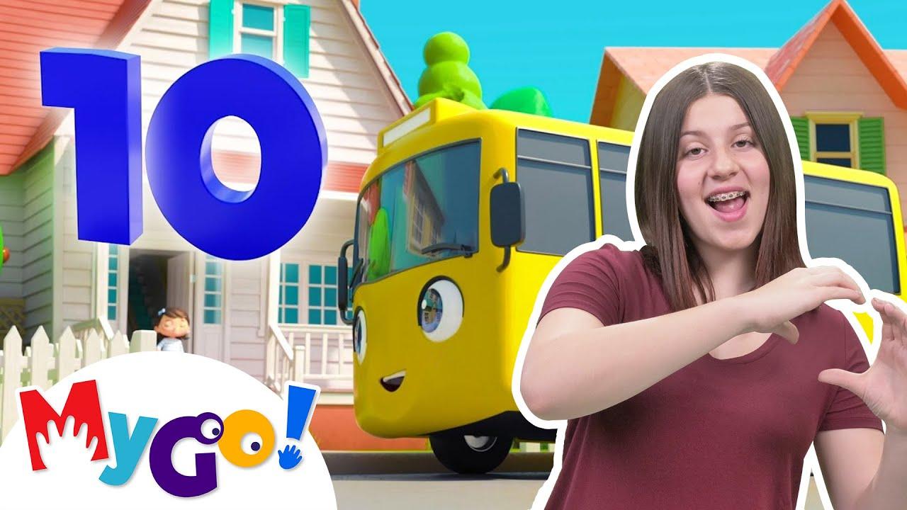 Ten Little BUSES! | MyGo! Sign Language For Kids | Little Baby Bum - Nursery Rhymes | ASL