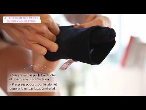 Mi-bas de contention et chaussettes de contention : comment les retirer ?