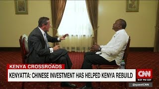 Kenyan President Uhuru Kenyatta sits down with CNN's Richard Quest