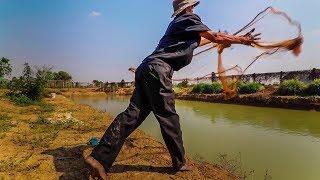 Net fishing Battambang Province with Khmer OG from California