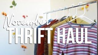 November Thrift Haul!