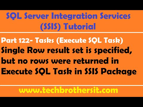 SSIS Tutorial Part 122-Configure Execute SQL Task when Query Might Not Return Results