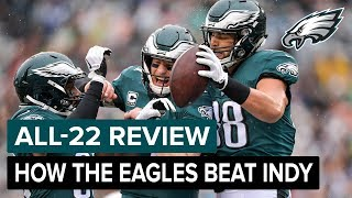 How The Eagles Defeated The Colts | Eagles All-22 Review
