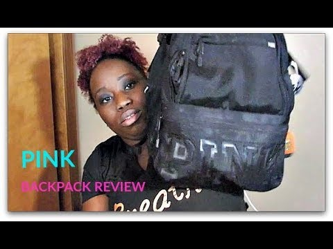 198e038e54 PINK COLLEGIATE BACKPACK REVIEW -2017 - YouTube
