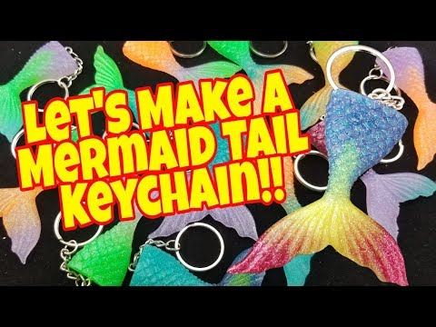 How To Make A Epoxy Mermaid Tail Keychain