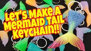 How To Make A Epoxy Mermaid Tail Keychain