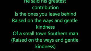 Alan Jackson - Small Town Southern Man [ LYRICS ]