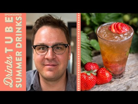 Strawberry & Beer Mojito Cocktail | Tim Anderson
