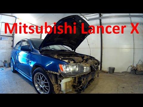 Ролик Ланцер 10 ремонт кузова и окраска в Нижнем Новгороде. Mitsubishi Lancer X Auto body repair.