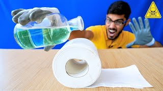 Never Put Powerful Acid On Toilet Paper | तुरंत खेल खतम | Do Not Try