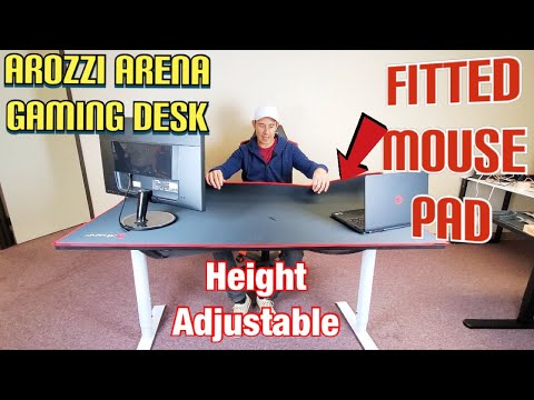 Arozzi Arena Gaming Desk w/ HUGE FITTED MOUSE PAD (The Good & Bad)