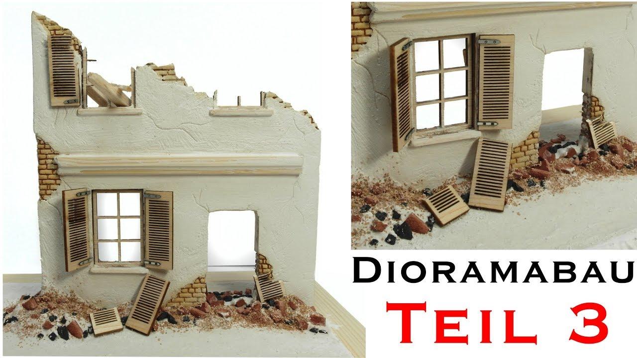 hausruine selber bauen tiger 1 winter diorama 1 35 modellbau teil 3 youtube. Black Bedroom Furniture Sets. Home Design Ideas