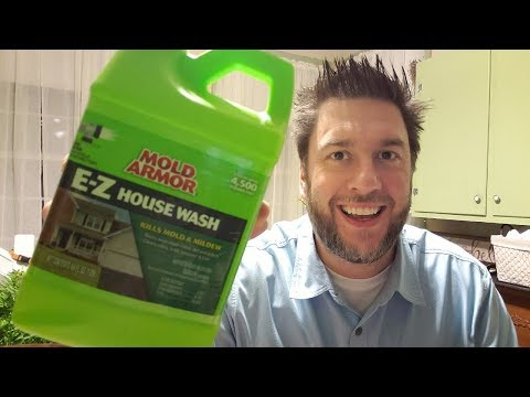 Mold Armor E Z House Wash clean vinyl siding without scrubbing