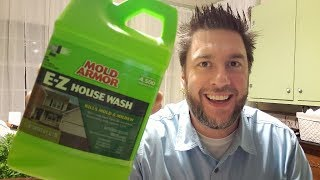 Mold Armor E-Z House Wash: clean vinyl siding without scrubbing?