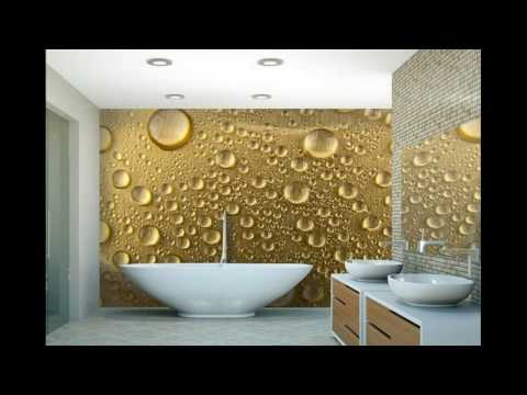Modern wallpaper designs for bathroom