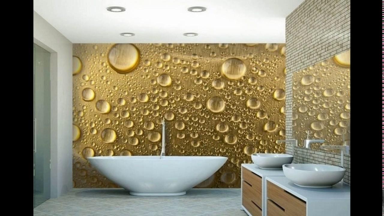 Modern Wallpaper Designs For Bathroom