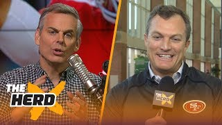 John Lynch on the 2018 NFL draft, Talks potential targets | THE HERD