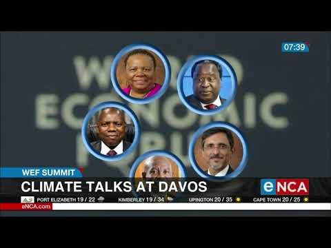 Climate talks at Davos