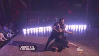 Val Chmerkovskiy & Elizabeth Berkley Lauren dancing Contemporary on DWTS 9 16 13