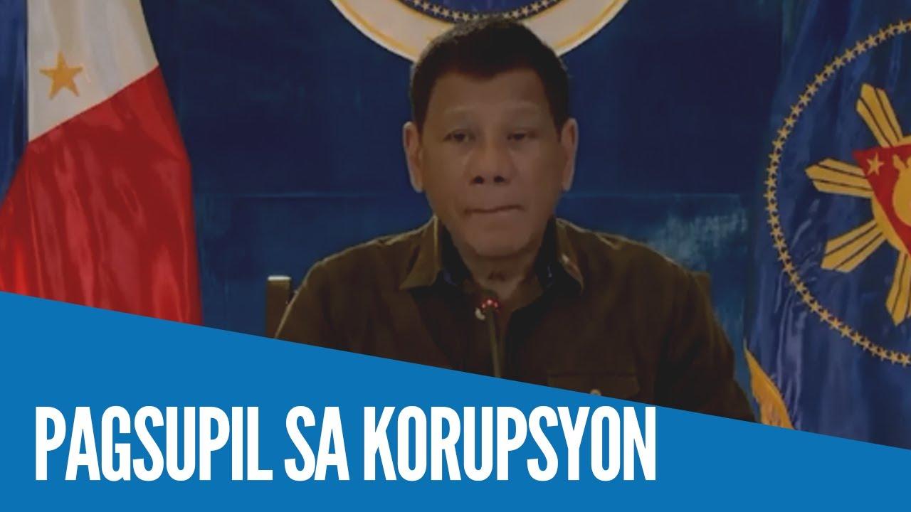Download WATCH: Korupsyon sa lahat ng tanggapan ng gobyerno, pinaiimbestigahan ni Pangulong Duterte sa DOJ