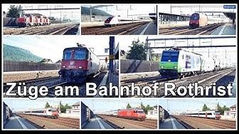Rail traffic @ Rothrist Switzerland / Züge beim Bahnhof Rothrist