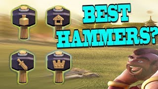 What is the Best Magic Hammer to Get? | Got 90 Medals While Recording...INSANE! Clash of Clans