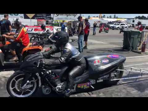 One Of A Kind Turbo Harley Vs. Turbo Suzuki In Pro Open Dragbike Final