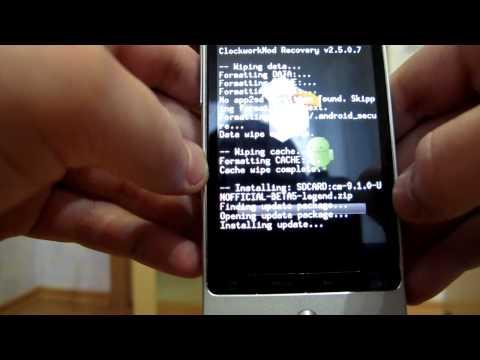 Как поставить кастомную прошивку на HTC Legend