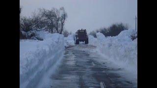Березанка- снег 2016(Автодорога Рыбаковка-базы отдыха