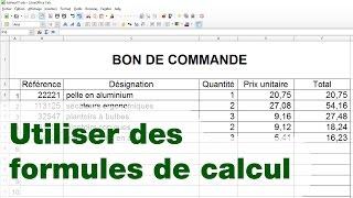 [Tableur] Bon de Commande - ép.02 : les formules