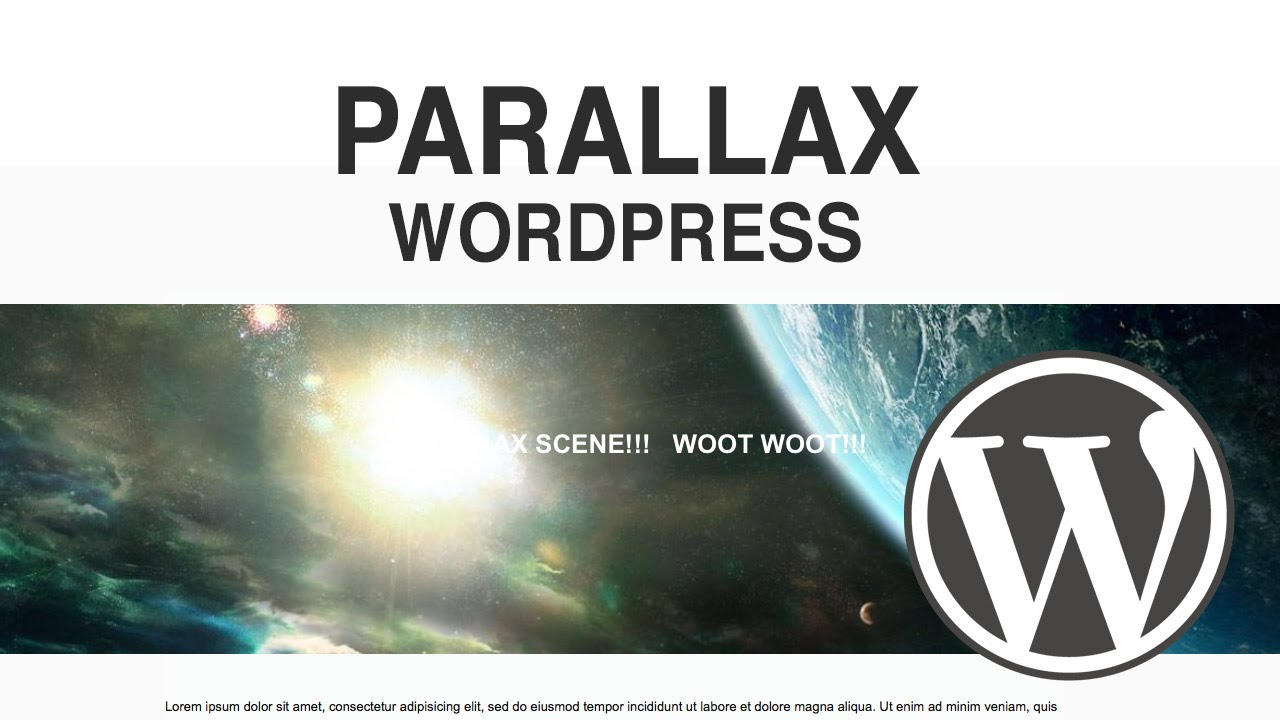 Wordpress Parallax Plugin