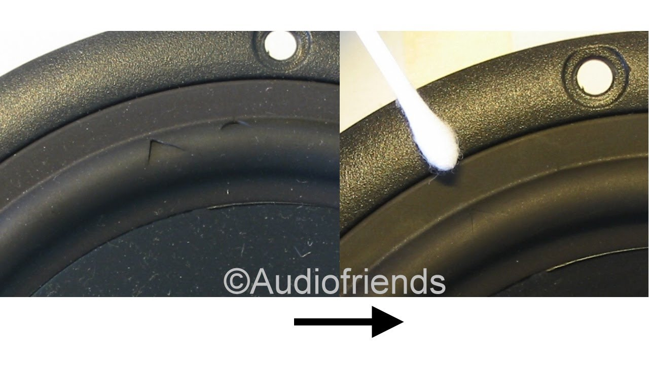REPAIR HOLES INVISIBLE in speaker rubber surrounds of your speakers.