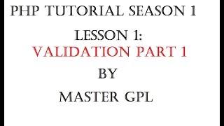 PHP TUTORIAL TAGALOG - LESSON 1 VALIDATION PART 1
