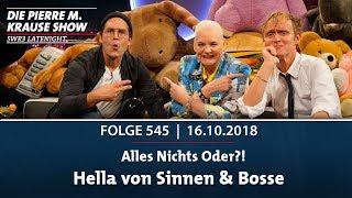 Pierre M. Krause Show vom 16.10.2018 mit Pierre, Hella, und Bosse