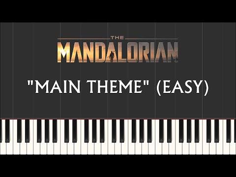 Star Wars: The Mandalorian - Main Theme EASY (Synthesia Piano)