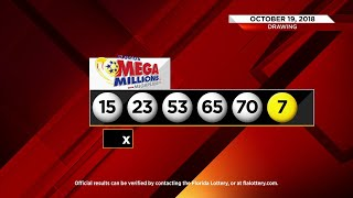 Winning numbers for Mega Millions Lottery