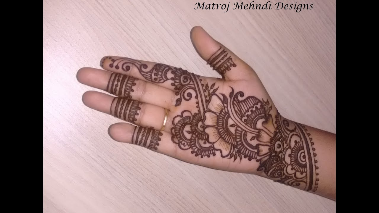 Mehndi Designs Learning Hands : Eid special beautiful simple mehndi designs on hands 2016