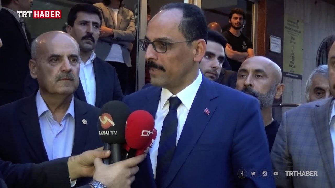 Cumhurbaşkanlığı Sözcüsü Kalın'dan Karakoç ailesine taziye ziyareti