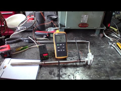 High temperature probe for molten aluminum with K type probe using a PDI