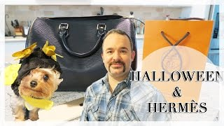 HALLOWEEN + HERMÈS | Pretty Shiny Sparkly Vlog