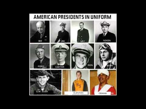 THE LAST 11 PRESIDENTS IN THEIR UNIFORMS