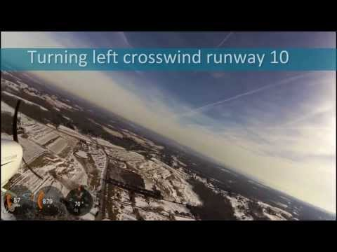 Landing pattern at Harford County Airport MD