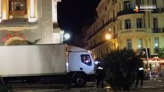 Atentat Nisa: Momentele în care poliţiştii trag spre camion şi atacator