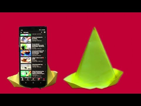 How to make Paper Mobile Stand easily Without glue || Simple life hacks videos