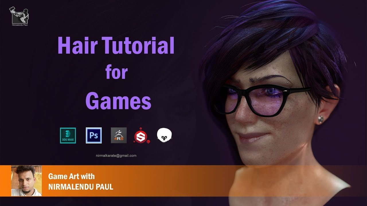 Hair tutorial For Games with Nirmalendu Paul