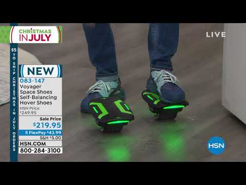 Voyager Space Shoes SelfBalancing Green Hover Shoes