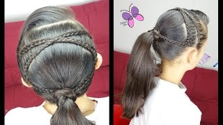 Criss-Cross Accented Ponytail | Hairstyles for School | Braided Hairstyles