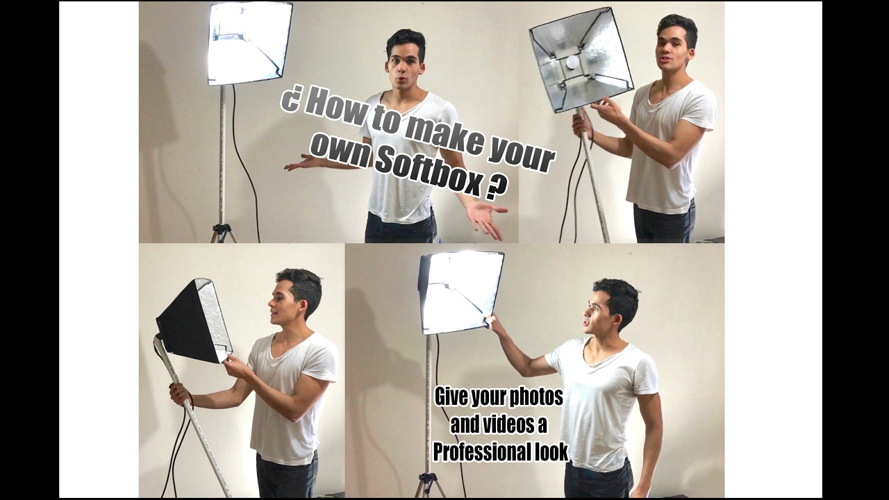 DIY Softbox Light (very cheap) - How to make your own Softbox - YouTube